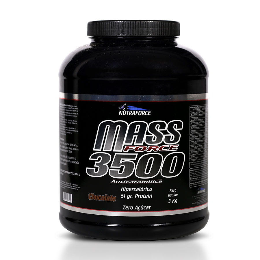 Mass Fort 3500 Hipercalórico 3kg - Nutraforce