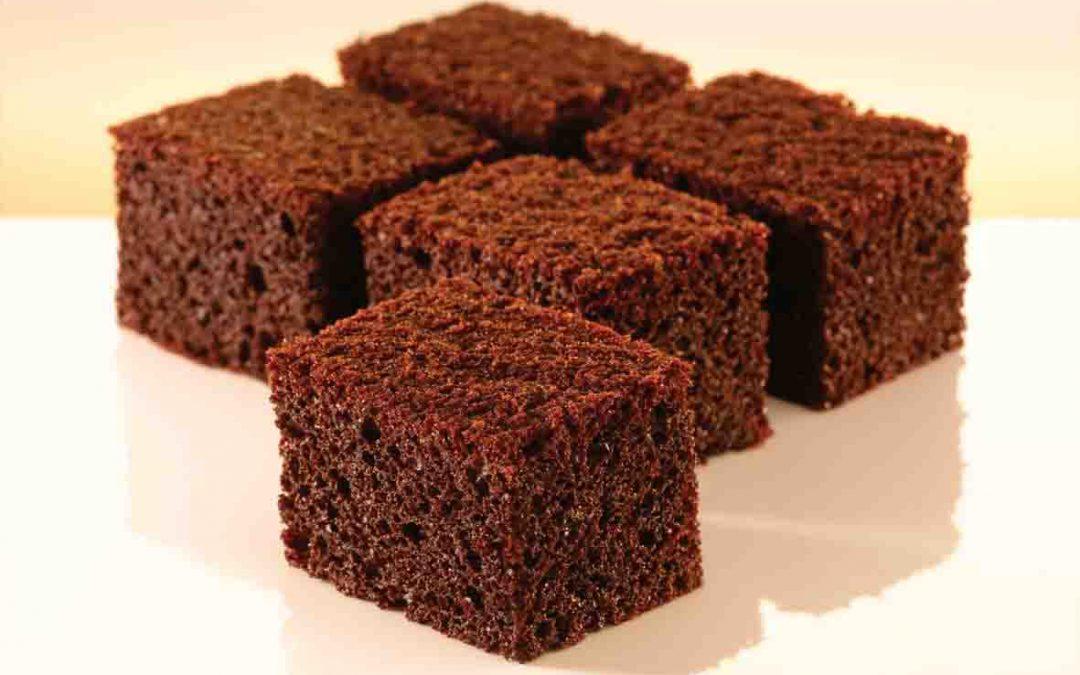 Bolo de Whey Protein sabor Chocolate