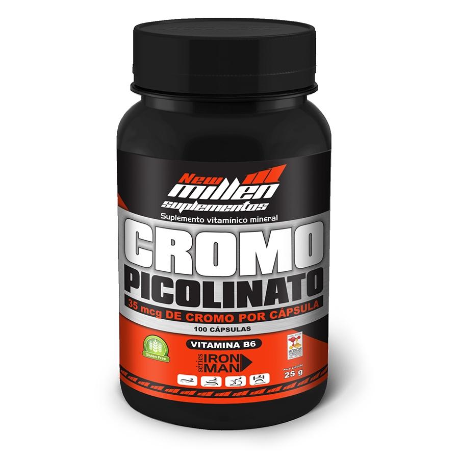 Cromo Picolinato 100 cápsulas - New Millen