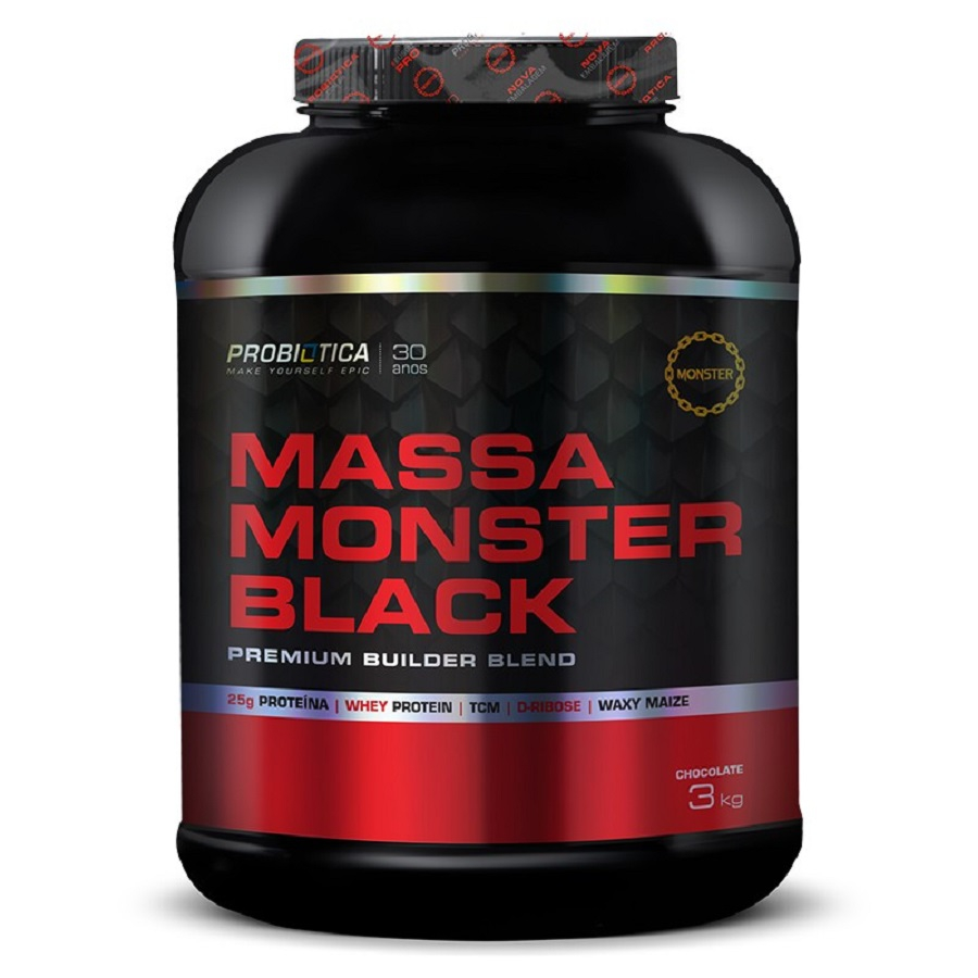 Massa Monster Black 3000g - Probiótica