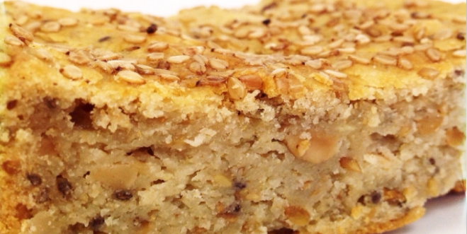 Pão de batata doce proteico e saudável