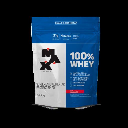 100% whey protein refil 900g max titanium