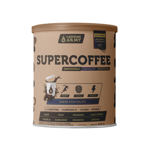 Supercoffe Chocolate 220g - Caffeine Army