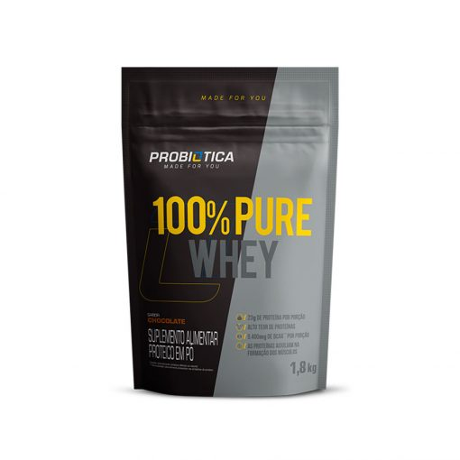 100% Pure Whey Refil 1,8Kg Probiótica